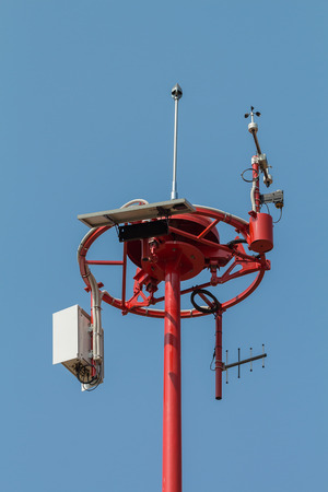 anemometer: Anemometer measuring wind speed in airports