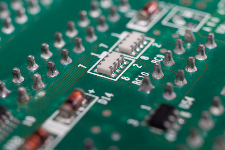 semiconductor: PCB board and electronic semiconductor on board