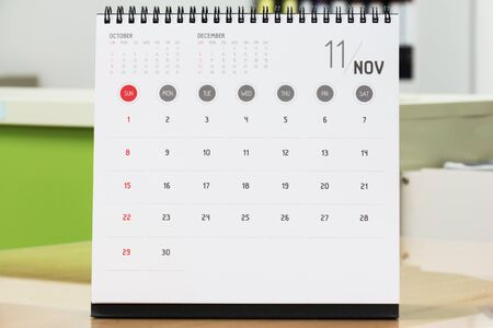 november calendar: November Calendar 2015 year calendar.On the office desk.