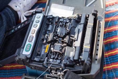 splice: Fiber Splicing Tools use for connect fiber optic cable