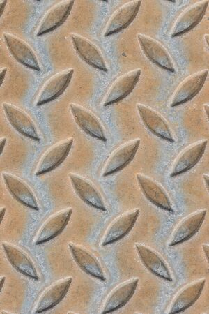 rough diamond: Old steel floor plate texture.
