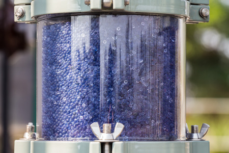 humidity: Silica gel for humidity control for high voltage transformer.