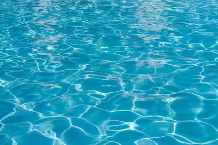 liquid reflect: Pattern of blue water reflecting the sun. Stock Photo