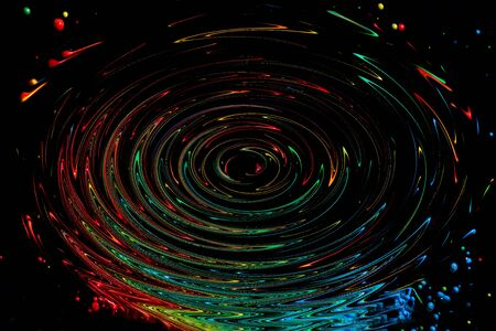 emanate: Abstract colorful paint dancing splash.