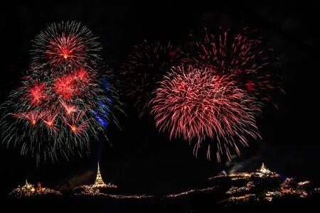 wang: Fireworks Festival at Phra Nakhon Khiri (Khao Wang), Phetchaburi, Thailand.