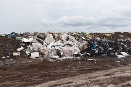 landfill site: Waste Industry Sent to landfill waste destruction industrial.Wait for landfill when full garbage pit.
