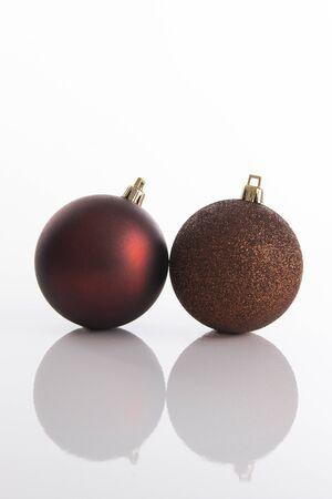 Two Christmas tree ornaments Stock Photo