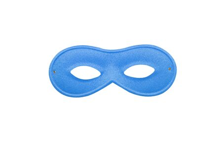Blue carnival simple mask isolated on a white background