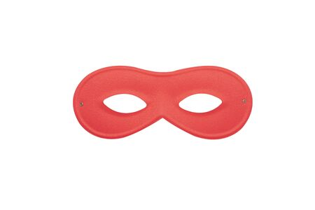 Red carnival simple mask isolated on a white background