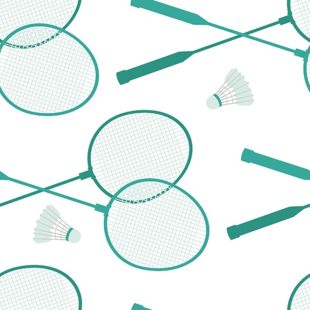 battledore: Badminton background Illustration