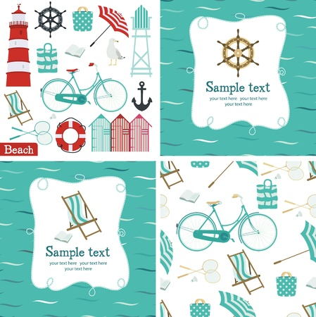 beach umbrella: Beach set