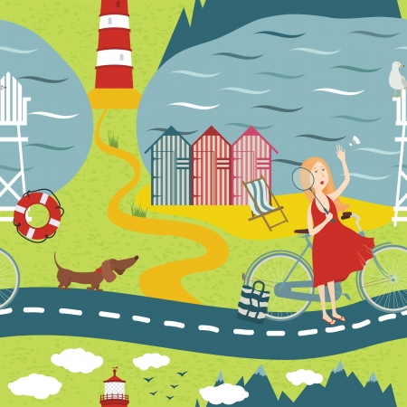 dog walk: Highways and byways Illustration