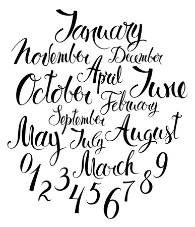 months of the year: Months of the year and numbers