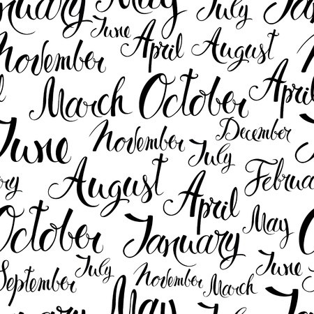 months of the year: Months of the year background
