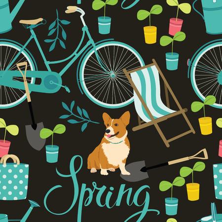 sun bed: Spring gardening pattern