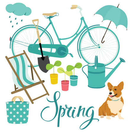 Spring set Stock Vector - 22387421