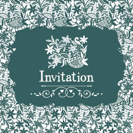 celadon: Lace invitation Illustration