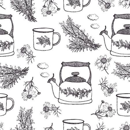 Summer tea background Vector