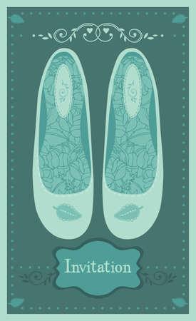 glamorous couple: Wedding shoes Illustration