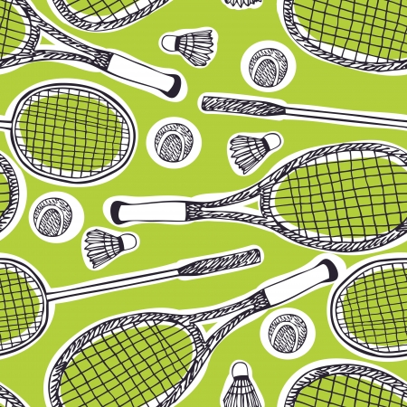 Badminton and tennis background Vector
