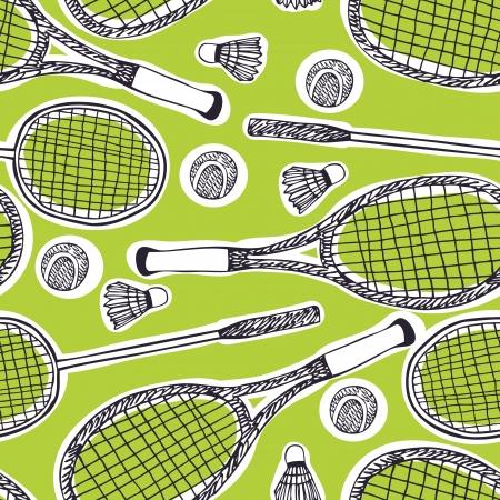 battledore: Badminton and tennis background