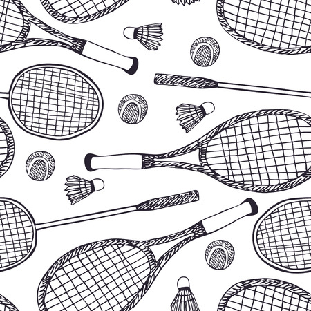 Badminton and tennis Vector