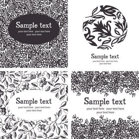 Black and white ornate seamless pattern