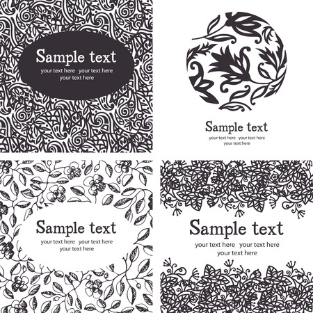 Black and white ornate seamless pattern