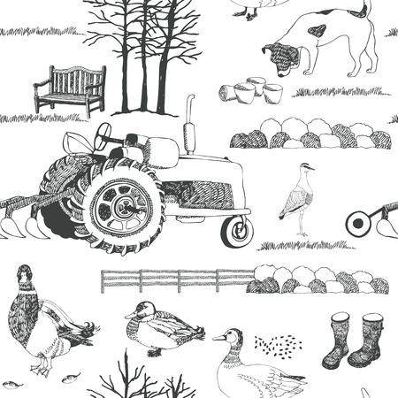 Farming background Vector
