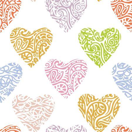 Heart ornate background