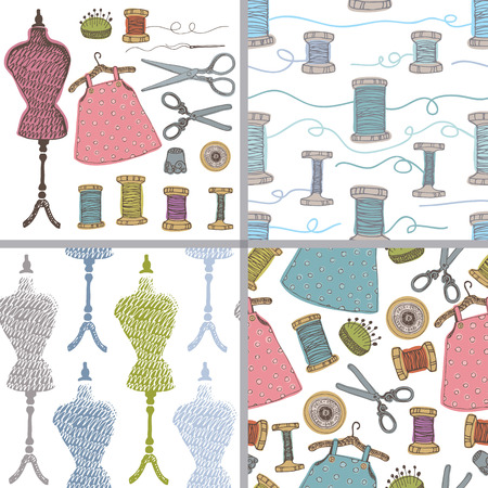 sewing pattern: Sewing set