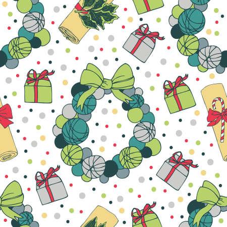 coronas de navidad: Navidad sin patrón. Regalos y guirnaldas de Navidad.
