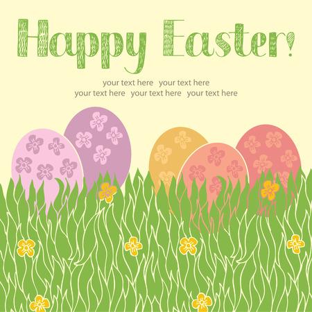 disegno a mano: Easter card felice. Disegno a mano schizzo