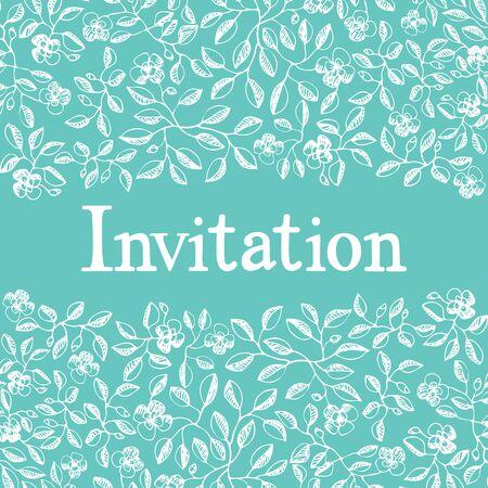disegno a mano: Invitation card design. Disegno a mano schizzo
