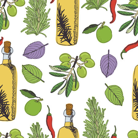tuscan: Olive oil pattern.