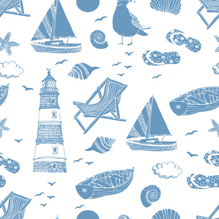 Sea pattern.  Vector