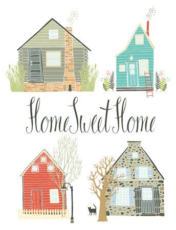 Home sweet home design card