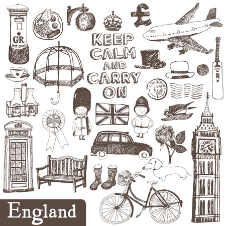 English vector set: design elements