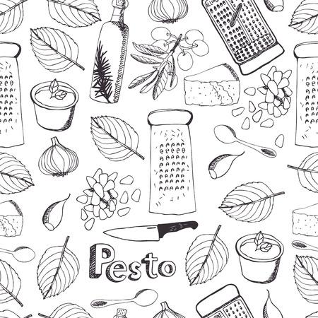 맛있는 신선한 소스 페스토 원활한 패턴