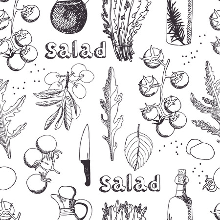 caprese salad: Salad with arugula, mozzarella and tomato seamless background