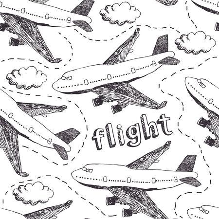 Aeronaves, el cielo y las nubes. Patrón de vuelo