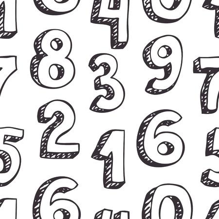 Numeri di serie. Schizzo disegnato a mano