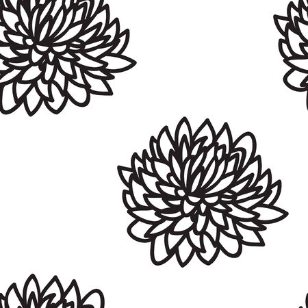 magnificence: Stylized flowers asters seamless background Illustration