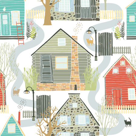 Home sweet home seamless background Vector