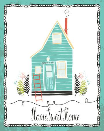 Home sweet home Design-Karte Standard-Bild - 26011582