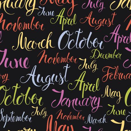meses del año: Meses del año colorido, diseño de fondo Vectores