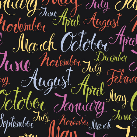 months of the year: Months of the year colorful, design background