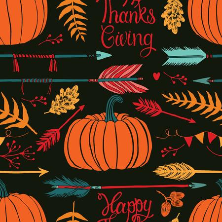Happy ThanksGiving Autumn dark background
