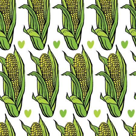 corn flakes: Corn on the cob background