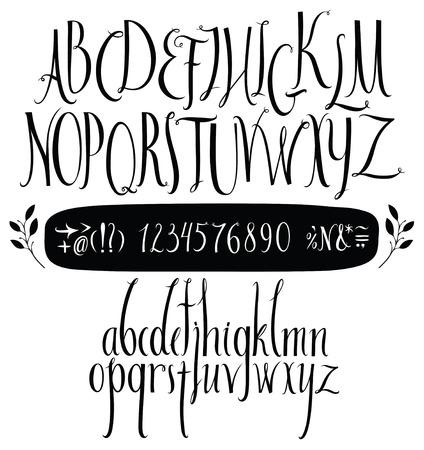 Alfabet de hand getekend in vector handgeschreven alfabet